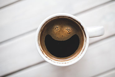 Coffee with happy face